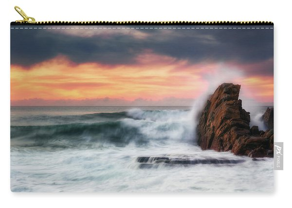 The Sea Against The Rock Carry-all Pouch