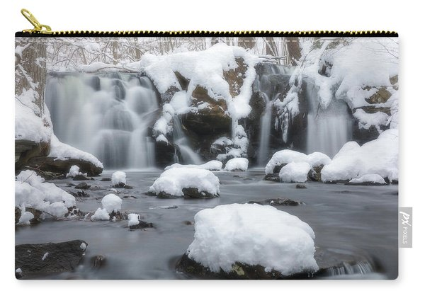 The Secret Waterfall In Winter 1 Carry-all Pouch