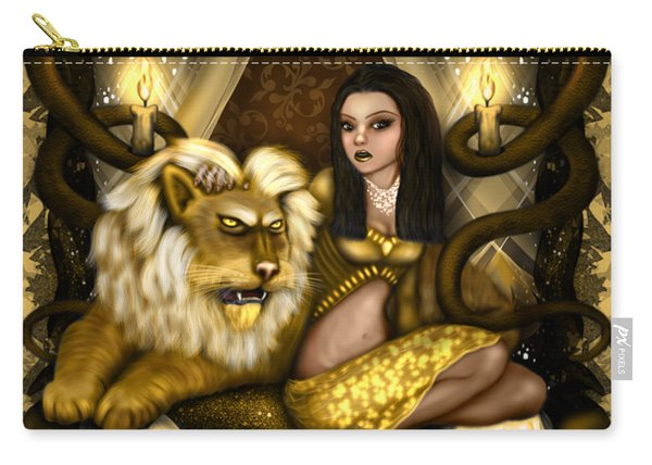 Carry-all Pouch featuring the painting The Serpent Gateway Fantasy Art by Raphael Lopez