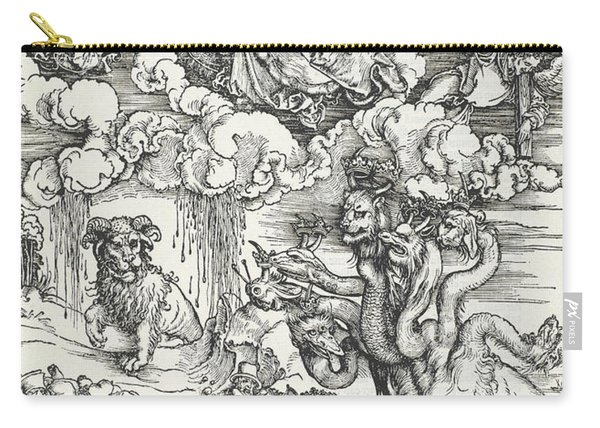 The Seven-headed Beast And The Beast With Lamb's Horns Carry-all Pouch