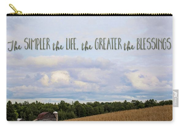 The Simpler Life Carry-all Pouch