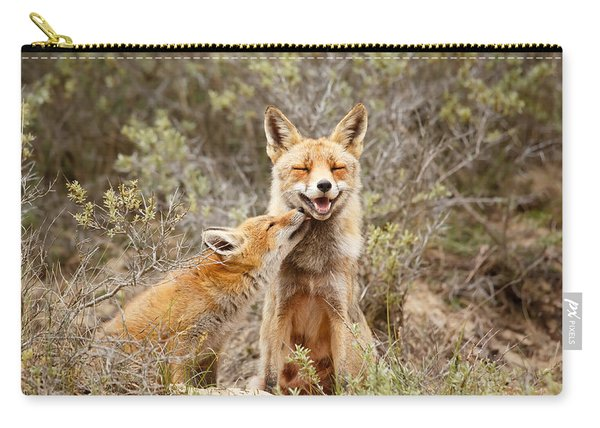 The Smiling Vixen And The Happy Kit Carry-all Pouch
