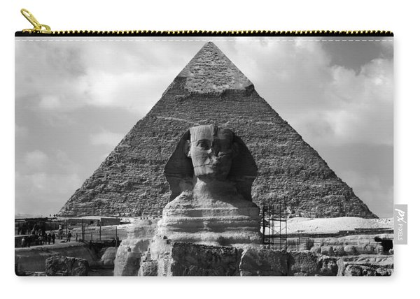 The Sphynx And The Pyramid Carry-all Pouch