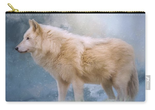 The Spirit Within - Arctic Wolf Art Carry-all Pouch