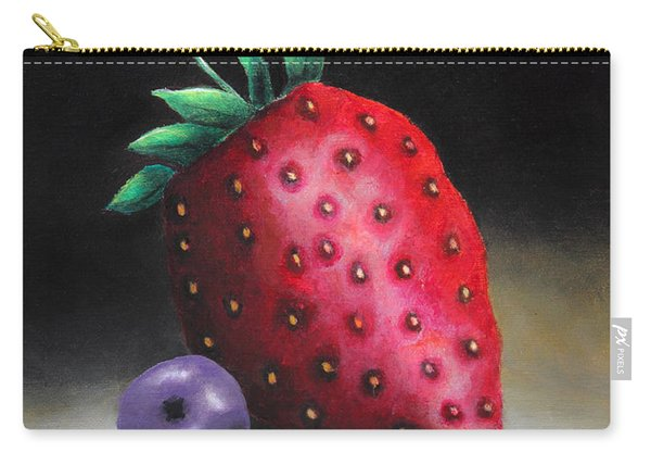 The Strawberry And The Blueberry Carry-all Pouch