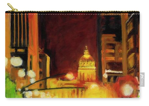 The Streets Run With Crimson And Gold Carry-all Pouch