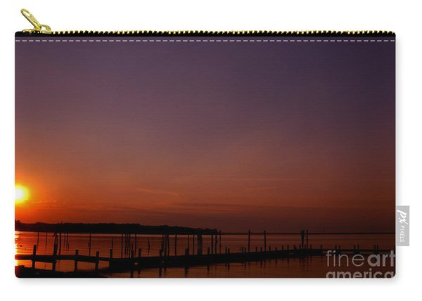 The Sun Sets Over The Water Carry-all Pouch