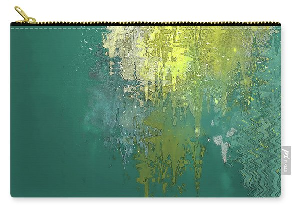 Carry-all Pouch featuring the digital art The Sunken Cathedral by Gina Harrison