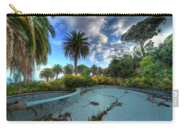 The Swimming Pool Of The Former Summer Vacation Building - La Piscina Dell'ex Colonia Marina Carry-all Pouch