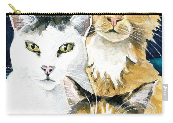 The Three Musketeers - Cat Painting Carry-all Pouch