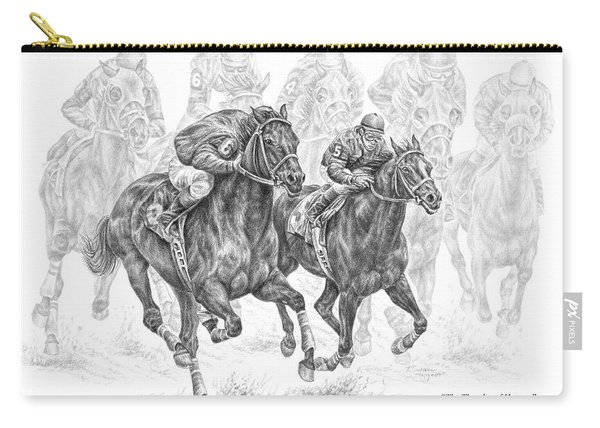 The Thunder Of Hooves - Horse Racing Print Carry-all Pouch