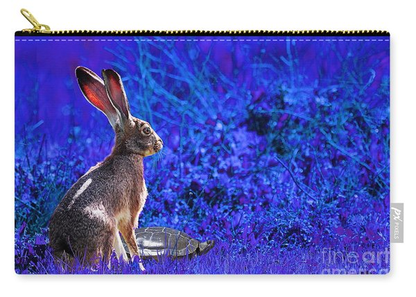 The Tortoise And The Hare . Blue Carry-all Pouch