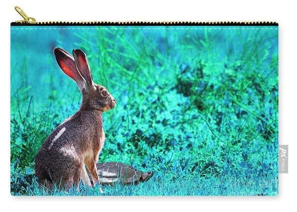 The Tortoise And The Hare . Cyan Carry-all Pouch