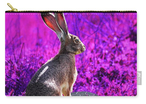 The Tortoise And The Hare . Magenta Square Carry-all Pouch