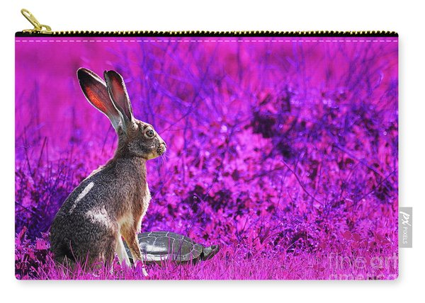 The Tortoise And The Hare . Magenta Carry-all Pouch
