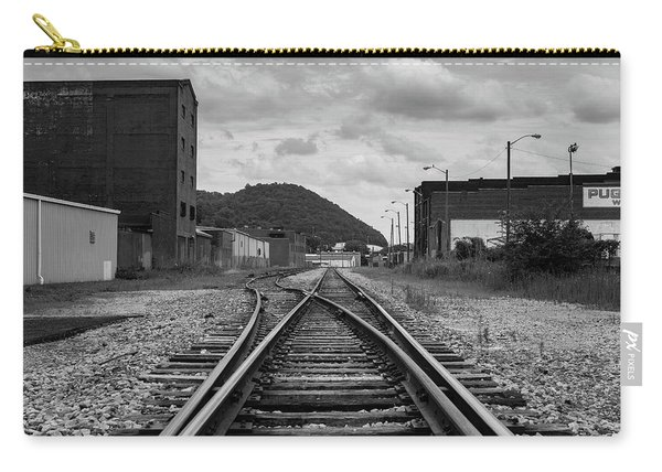 Carry-all Pouch featuring the photograph The Tracks by Break The Silhouette