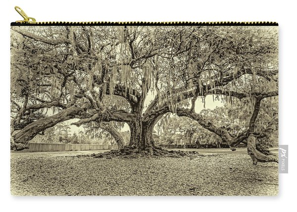 The Tree Of Life Sepia Carry-all Pouch