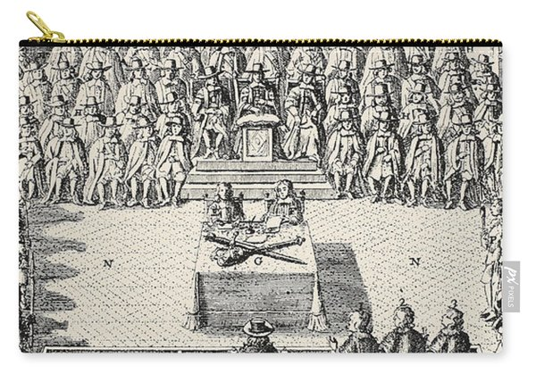 The Trial Of Charles I Carry-all Pouch
