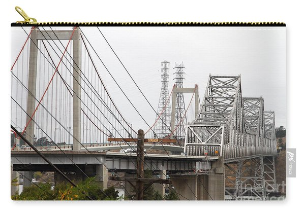 The Two Carquinez Bridges At Crockett And Vallejo California . Aka Alfred Zampa Memorial Bridge . 7d8919 Carry-all Pouch