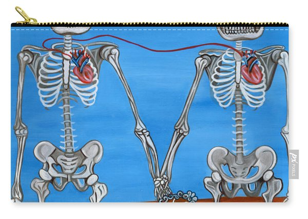 The Two Skeletons Carry-all Pouch