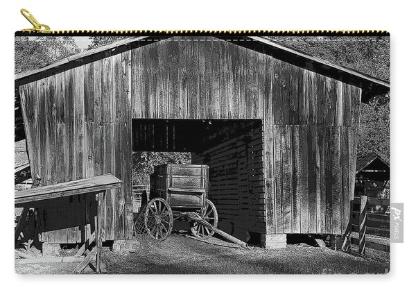 The Undertaker's Wagon Black And White 2 Carry-all Pouch