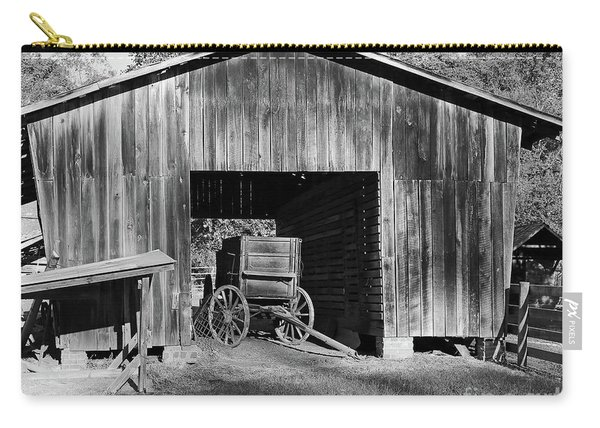 The Undertaker's Wagon Black And White Carry-all Pouch
