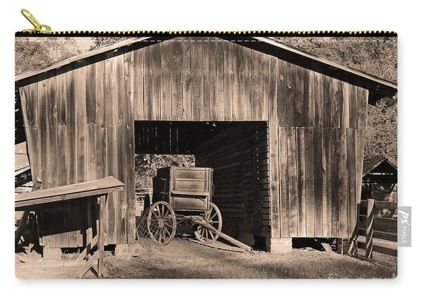 The Undertaker's Wagon Sepia Carry-all Pouch