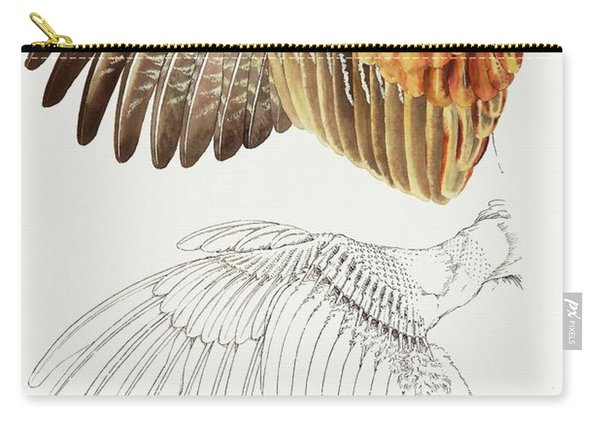 The Upper Side Of The Pheasant Wing Carry-all Pouch