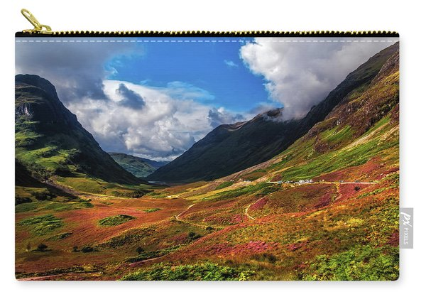 The Valley Of Three Sisters. Glencoe. Scotland Carry-all Pouch