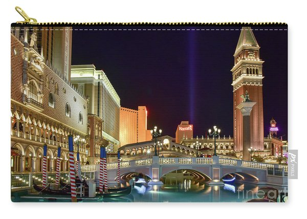 The Venetian Gondolas At Night Carry-all Pouch