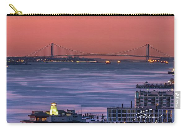The Verrazano Bridge At Sunrise Carry-all Pouch
