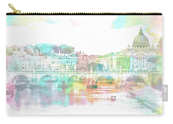 The View From Castel Sant'angelo Towards Ponte Sant'angelo, Brid Carry-all Pouch