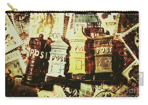 The Vintage Postage Card Carry-all Pouch
