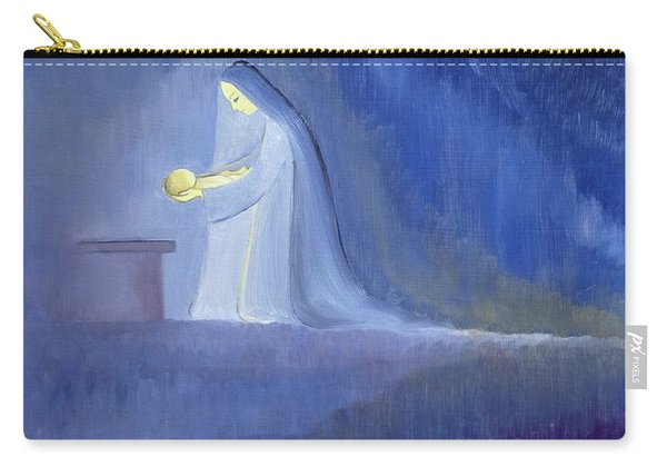 The Virgin Mary Cared For Her Child Jesus With Simplicity And Joy Carry-all Pouch