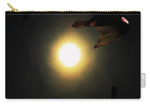 The Vultures Have Gathered In My Dreams . Portrait Cut Carry-all Pouch