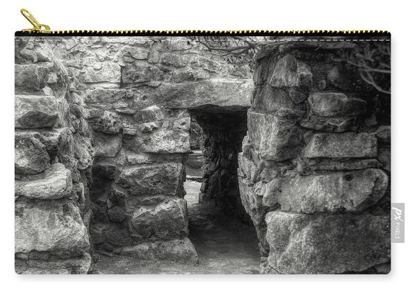 The Walls Of Tulum B/w Carry-all Pouch