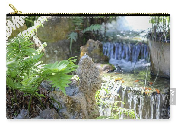 Carry-all Pouch featuring the photograph The Water And Rock Spot by Raphael Lopez
