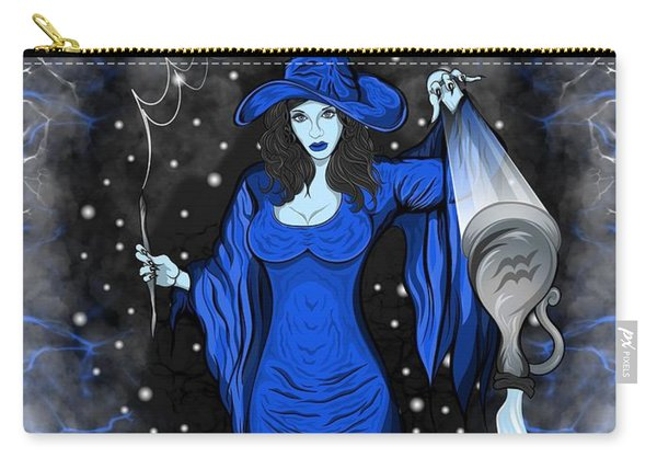 Carry-all Pouch featuring the painting The Water Bearer Aquarius Spirit by Raphael Lopez