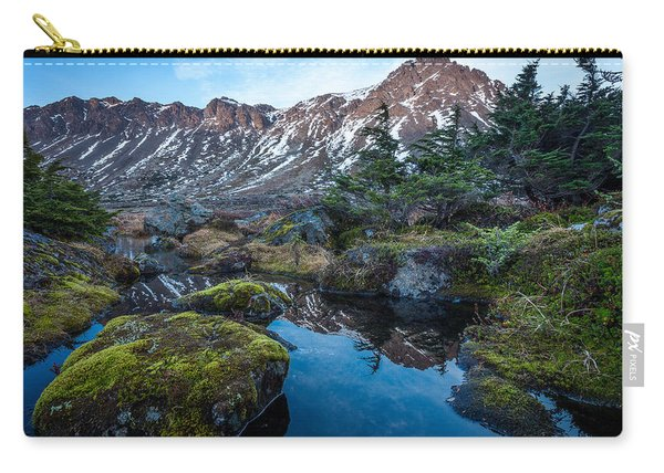 Carry-all Pouch featuring the photograph The Wedge In Late Autumn by Tim Newton