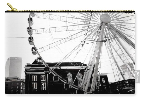 The Wheel Black And White Carry-all Pouch