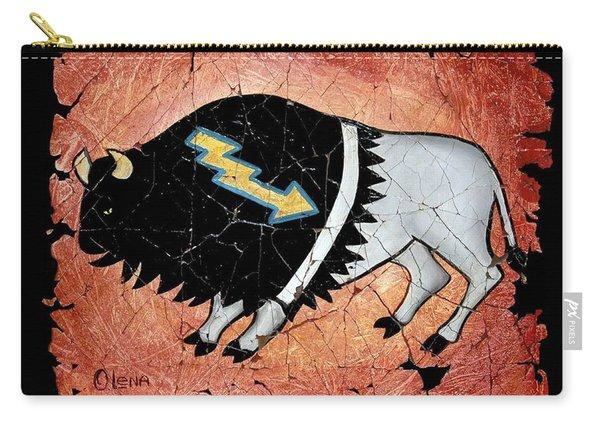 The White Sacred Buffalo Fresco Carry-all Pouch