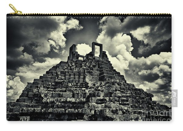 Carry-all Pouch featuring the photograph The World's Largest Jigsaw Puzzle At Baphoun Temple, Angkor Thom, Siem Reap Province, Cambodia by Sam Antonio Photography