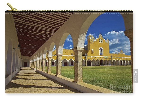 Carry-all Pouch featuring the photograph The Yellow City Of Izamal, Mexico by Sam Antonio Photography