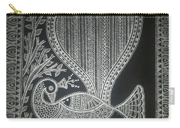 The Madhubani Peacock Carry-all Pouch