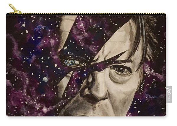 Carry-all Pouch featuring the painting There's A Starman Waiting In The Sky by Joel Tesch