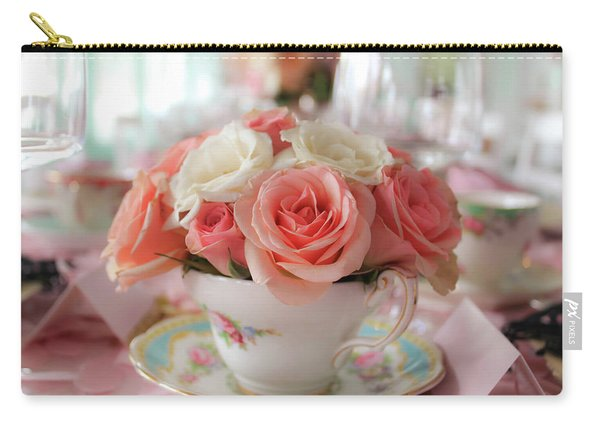 Teacup Roses Carry-all Pouch