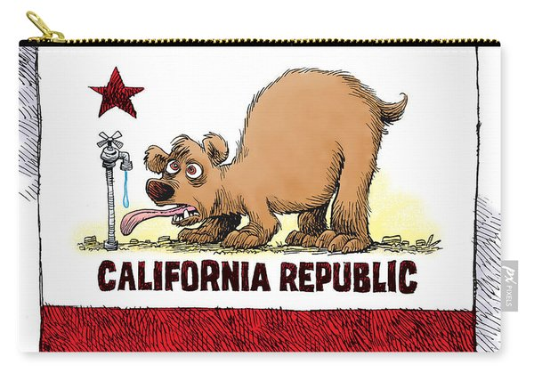 Thirsty California Flag Carry-all Pouch
