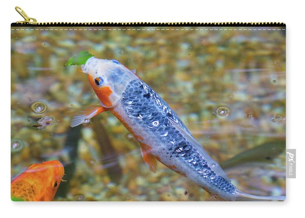 Carry-all Pouch featuring the photograph This Is Mine Fish by Raphael Lopez