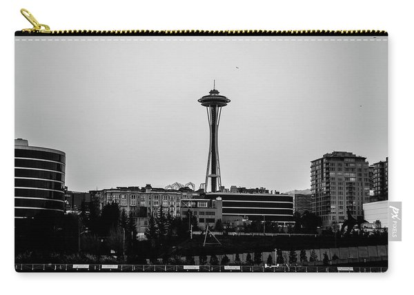 This Is Seattle Black And White Carry-all Pouch