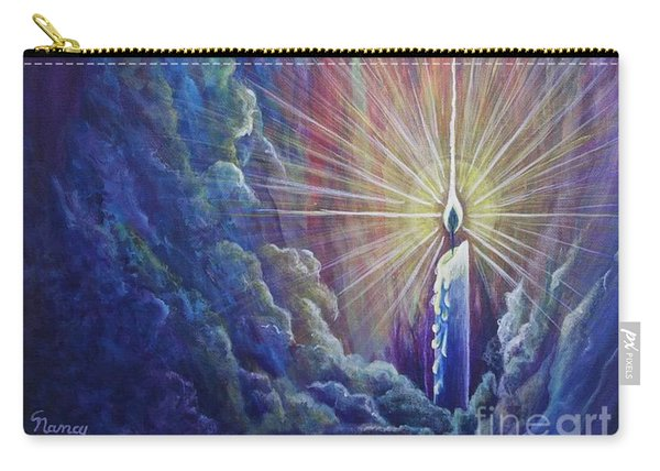 Carry-all Pouch featuring the painting This Little Light Of Mine by Nancy Cupp